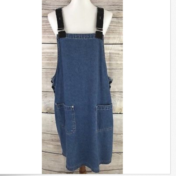 search for latest professional 60% cheap Vintage Denim Jean Jumper Dress Plus Size 2X
